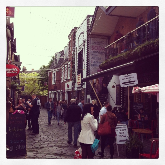 Weekly Photo Challenge: Street Life: 3. Ashton Lane, Glasgow