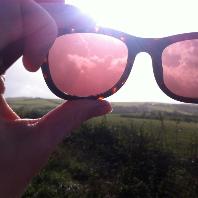 This is how the clouds looked through my sunglassses!